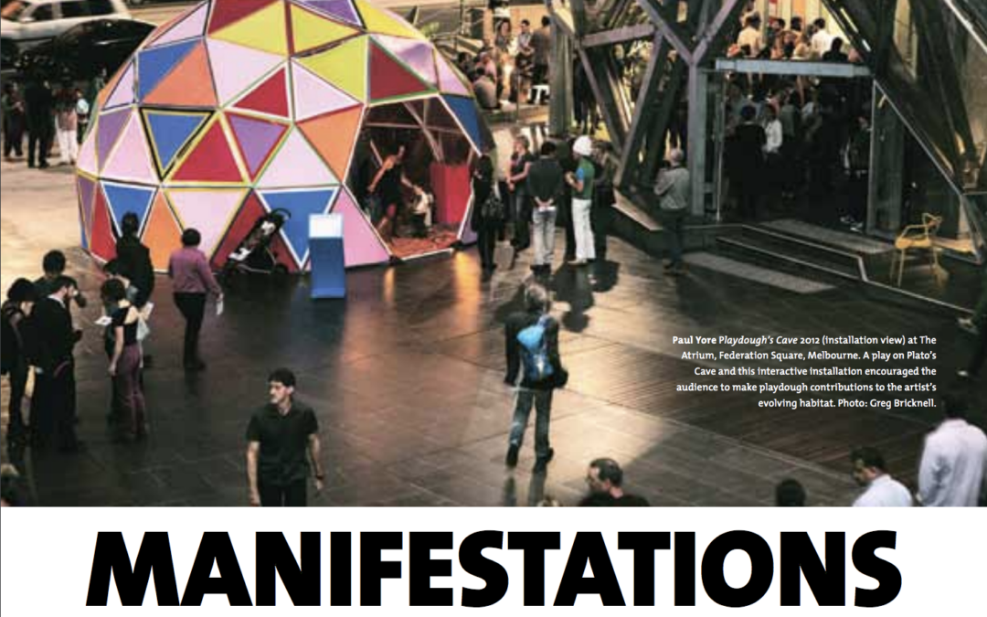 September 2012 | article in Artlink Magazine : Manifestations of NOW – experimenting with strategy